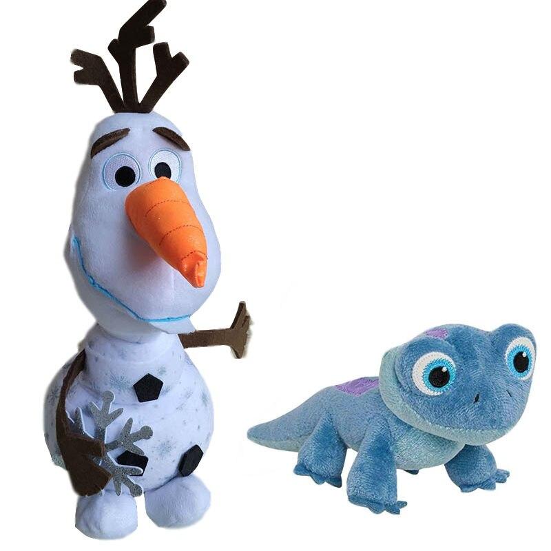 2020 Disney Frozen 2 Princess Elsa Anna Lizard Olaf Snowman Plush Stuffed Animal Doll  Kids Plush Toys Birthday Christmas Gift