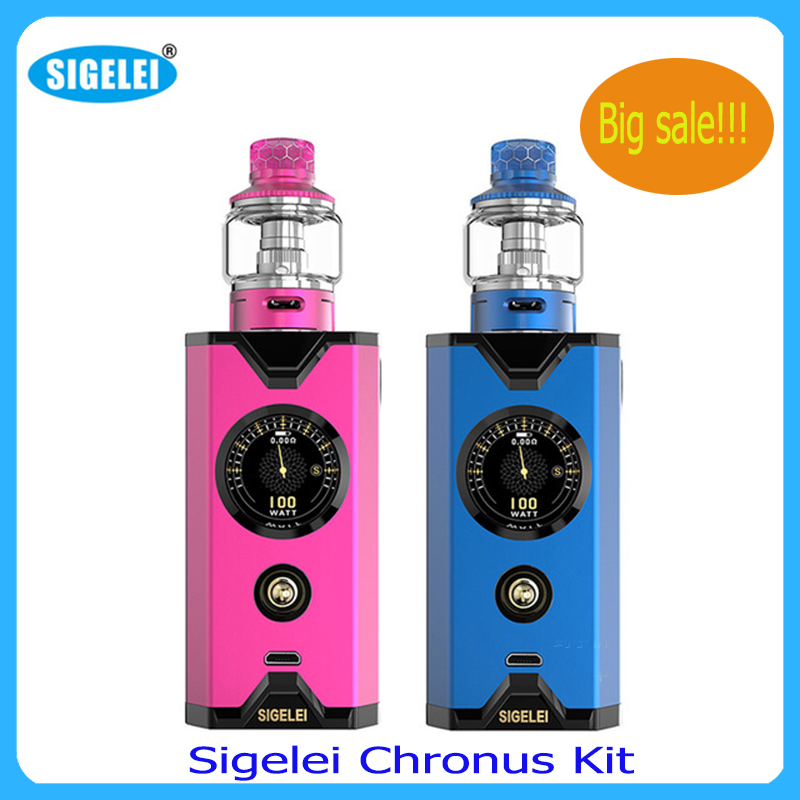 Clearance Sigelei Chronus Kit Powered By 18650 Battery With 510 Interfaces Type Electronic Cigarrete Vape Kit