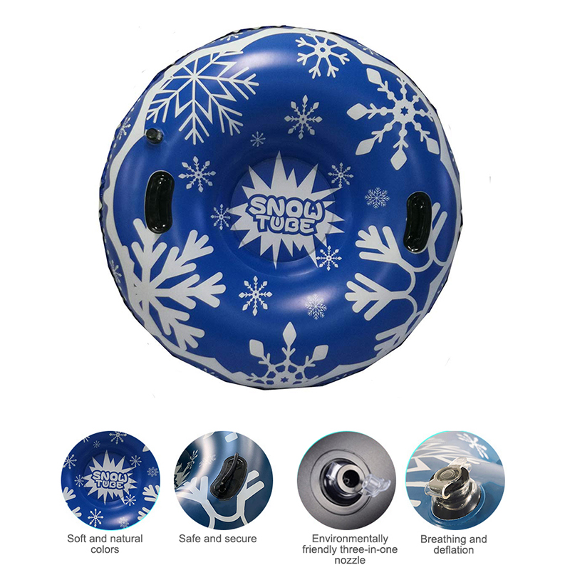 Ski Ring Circle With Handle Inflatable Thickened Size Circle Kids Winter Christmas Gifts Toy Snowboarding Floated Skiing Board