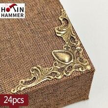 24PCS  Metal Angle Corner Brackets Gold Bronze  Notebook Cover For Menus Photo Frame Furniture Decorative Protector
