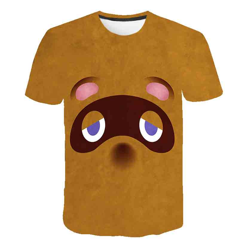 2020 Animal Crossing T-Shirt Game Cosplay Costume Nook T shirt Fashion Boy girl Short Sleeve Leisure T-shirt image