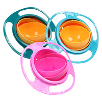 Universal Gyro Bowl Practical Design Children Rotary Balance Novelty Gyro Umbrella 360 Rotate Spill Proof Solid Feeding Dishes|360 rotate spill-proof bowl|rotate spill-proof bowluniversal gyro bowl -