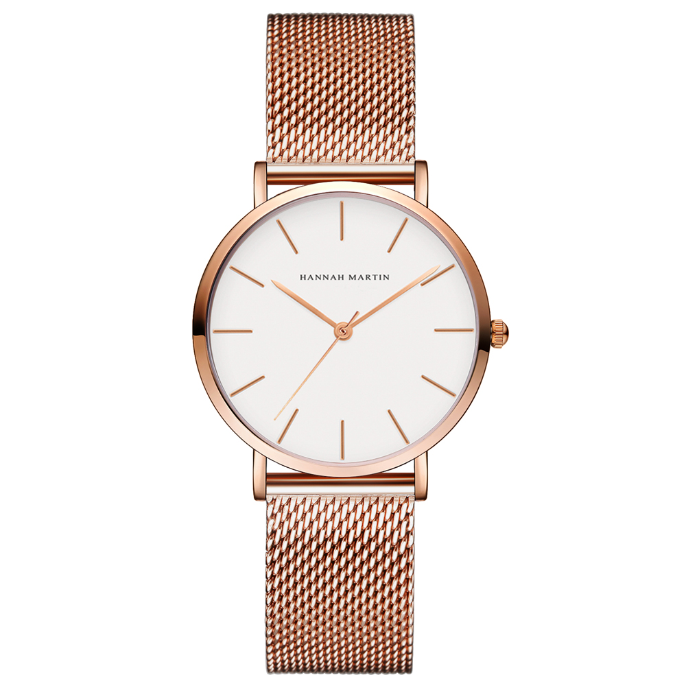 Fashion Watch WomenTop Luxury Brand Fashion Causal Stainless Steel Mesh Ladies Wristwatches Clock Waterproof Relogio Feminino