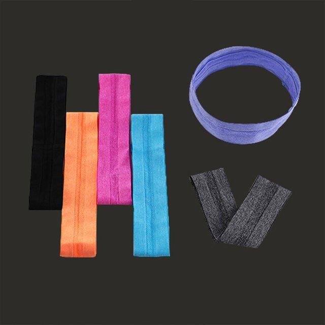 Fashion Strenchy Fabric Headband Running Non-slip Antiperspirant Belt Yoga Headband With Sweat-absorbent Tide Headscarf 1