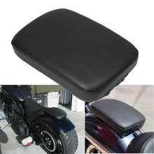 Passageiro traseiro da motocicleta almofada 8 ventosas pillion almofada assento de sucção para harley dyna sportster softail touring xl 883 1200