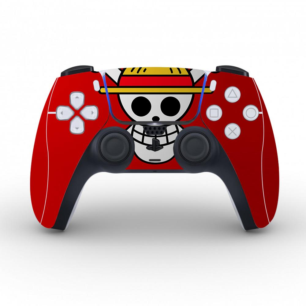 Anime One Piece Luffy Protective Cover Sticker For PS5 Controller Skin For Playstation 5 Decal PS5 Skin Sticker Vinyl 1