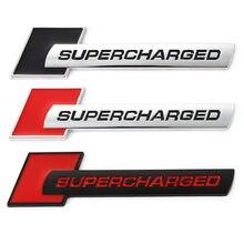 Etiqueta do carro 3d emblema esporte auto emblema decalque para land rover range rover supercharged audi a3 a4 a5 a6 q3 q5 q7 rs s3 s4 s5 s6 s8
