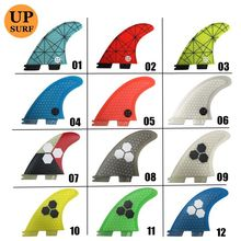 Surf Fins FCS2 Fins G3/G5/G7 FCS II Tri fin set Fiberglass new design blue,red, yellow,black,white,green color
