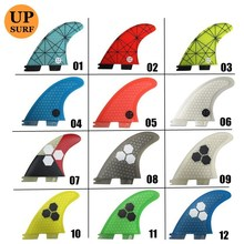 Surf Fins FCS2 G5/G7/G3 Light Blue FCS II Tri fin set Fiberglass new design blue,red, yellow,black,white,green color
