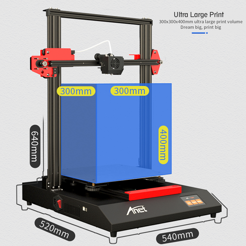 ANET ET5 ET4 and A8 Plus 3D Printer with Auto Leveling Sensor and Resume Printing