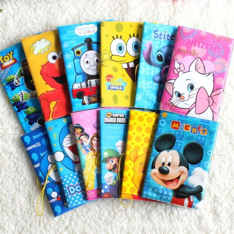 Travel Accessories Cute Mickey & Cat Passport Holder PVC 3D Print Leather Travel Passport Cover Case Card ID Holders 14cm*9.6cm