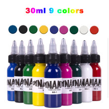 DYNAMIC 9 Colors 30ml/Bottle Professional Tattoo Ink For Body Art Natural Plant Micropigmentation Pigment Permanent Tattoo Ink