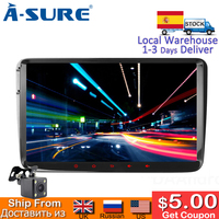 A Sure 9 Inch Android 8.1 Car Multimedia GPS 8 core Radio for Volkswagen VW Tiguan Polo Golf 5 6 Passat B6 Jetta Transporter T5
