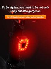Bicicleta led traseiro luz da cauda luz de advertência segurança à prova d30água 30hrs 14led noite mountain bike luz traseira lâmpada luz bycicle