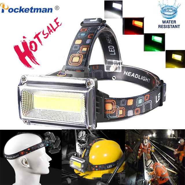 Headlamp led Work Rechargeable power by 1*18650 Battery Waterproof