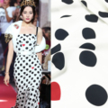 Italienisch D Marke Mode Polka Dot Gedruckt 100% Polyester Stoff Kleidung Hemd Casual Wear Tuch Stoffe für Kleid Nähen Meter