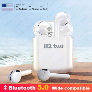 Original i12 TWS Wireless Headphones Touch Control Bluetooth Earphone Air Earbuds Handsfree Headset with Mic For iPhone Android