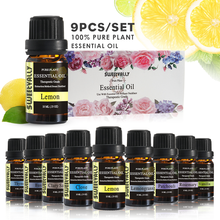 9pcs Essential Oils For Aromatherapy Diffusers Flower Fruit