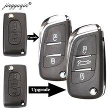 Jingyuqin CE0523 модифицированный откидной Складной Корпус ключа для Peugeot 306 407 807 Partner Remote VA2/HU83 Blade entrip Fob чехол 2/3 кнопка
