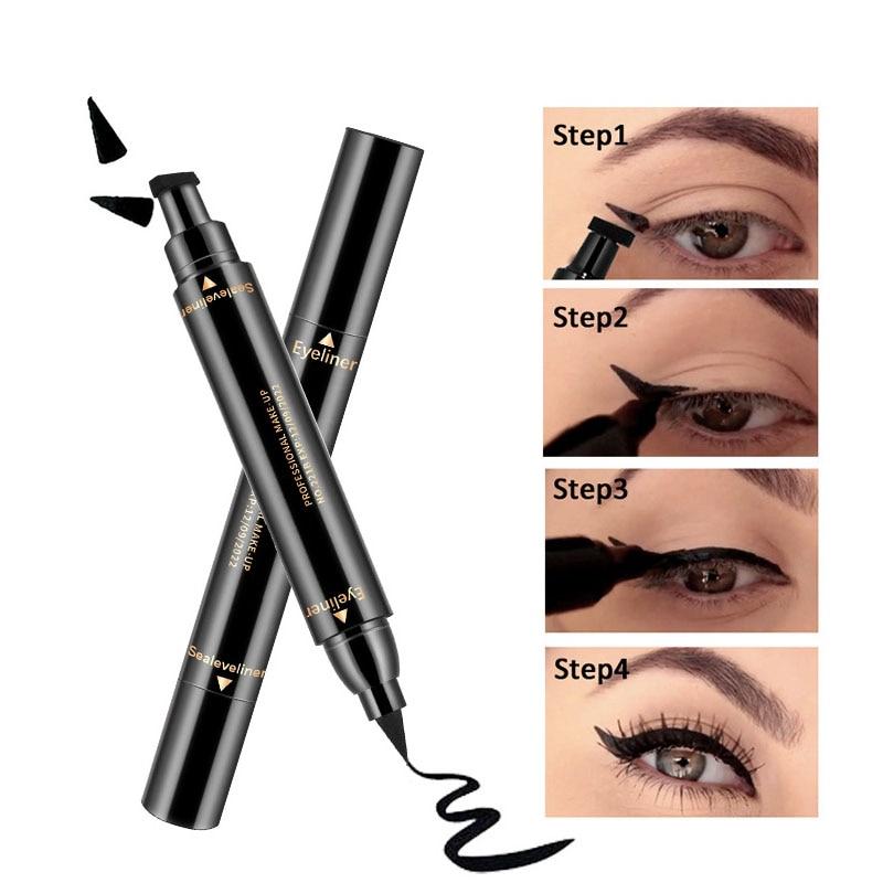 Новая Подводка для глаз, водостойкая черная двухсторонняя подводка для глаз, карандаш для макияжа, косметика, Стойкая подводка для глаз, инс...