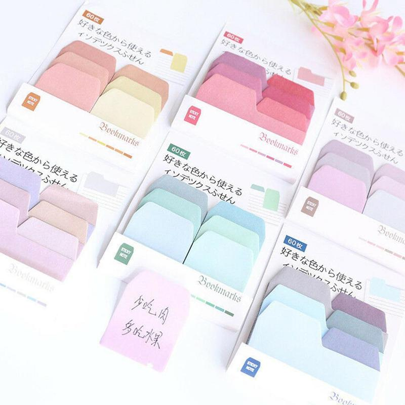 Creative Note Note N Times Stick Gradient Multi-color Simple School Sticky Stationery Supplies And Notes Practical Office