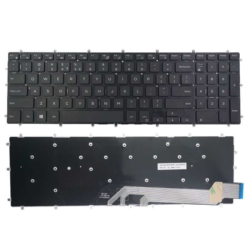 New English Keyboard For DELL 15-7566 5567 7567 5665 G3-3579 3779 3583 <font><b>G5</b></font> <font><b>5587</b></font> 5570 P72F 7577 3590 Notebook image