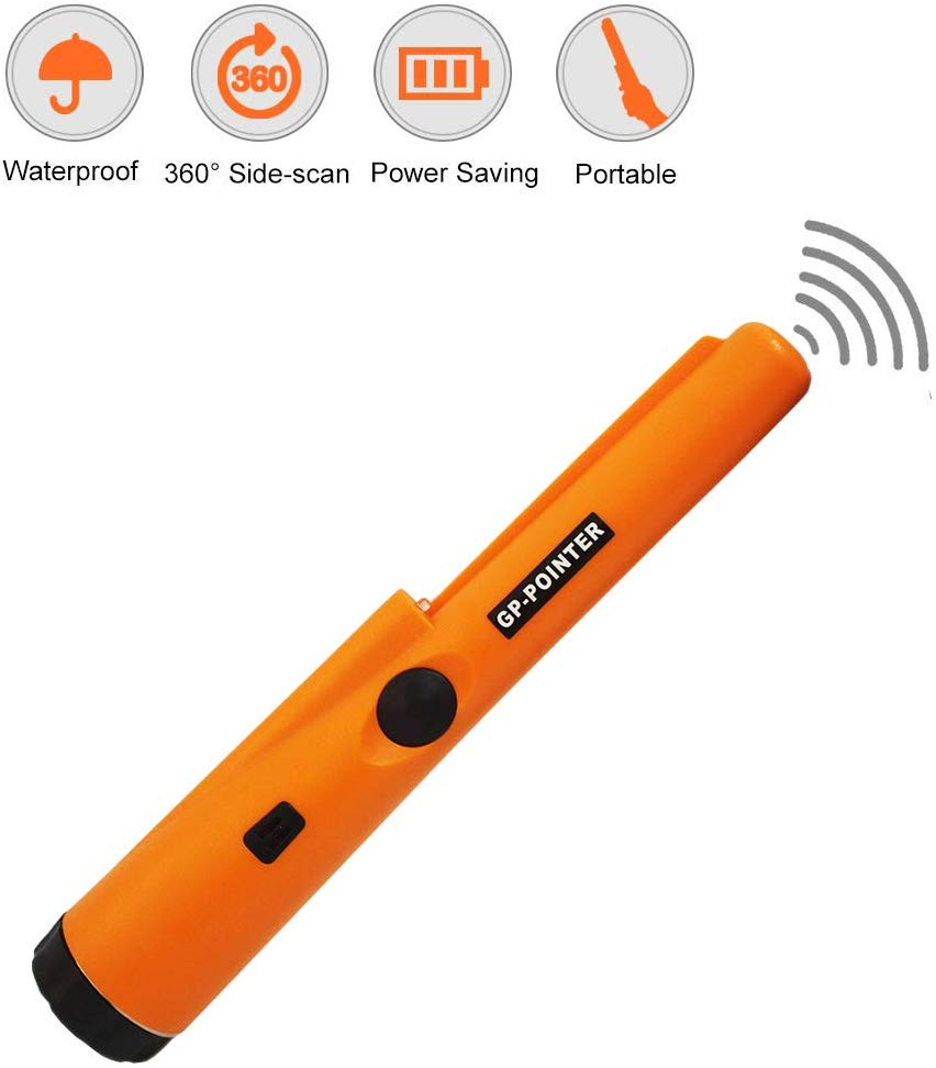 Portable Hand-held Metal Detector 360° Scanning Unearthing Detector Waterproof Pinpointing Probe