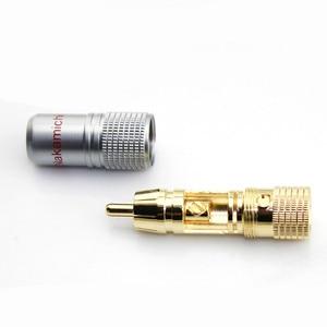 Image 2 - 4pcs RCA Adapter 24K Gold Nakamichi RCA Plug Audio Cable Speaker Terminal Connector Male Lotus adapter RCA Audio Connectors Hifi