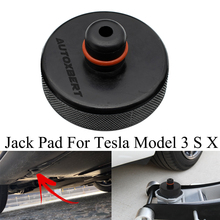JUNHOM Universal Car Rubber Jack Support Lift Pad Slotted Frame Adapter Rubber Jack Pad 2pcs