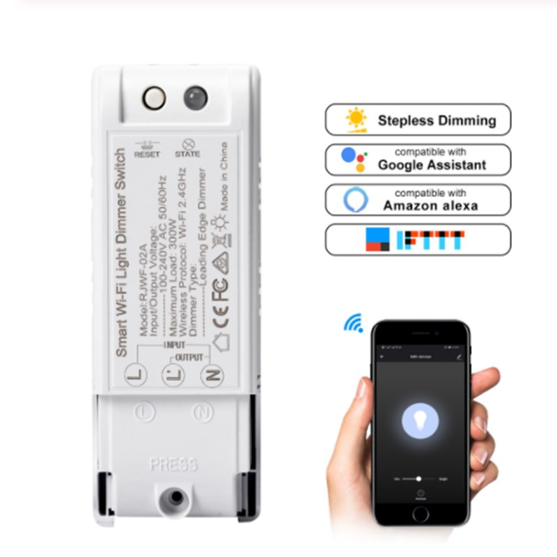 DIY Voice Control Wifi Dimmer Switch Wireless Remote Smart Home Automation Lights Switches Wifi Dimmer Control Module 1-5 Pieces