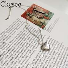 Женская цепочка с бусинами ckysee ожерелье в форме сердца из