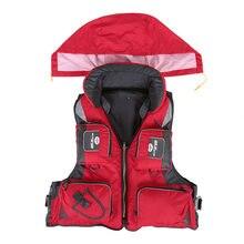 Furakuma L-XXL Men Women Fishing Life Vest Outdoor Water Sports Safety Life Jacket For Boat Drifting Survival Swimwear