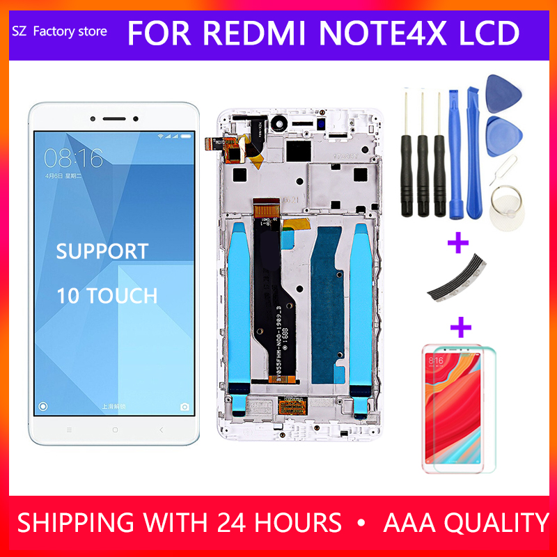 Bildschirm Ersatz für <font><b>Xiaomi</b></font> Redmi Hinweis 4X Note4 Globale Snapdragon 625 <font><b>LCD</b></font> Display & Touch Screen Digitizer Frame Assembly Set image