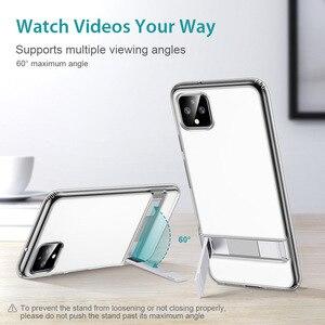 Image 5 - ESR Metal Kickstand Case for Google Pixel 3a 3a XL Business Cover Shockproof Flexible TPU Phone Case for Google Pixel 3 3XL 4 XL