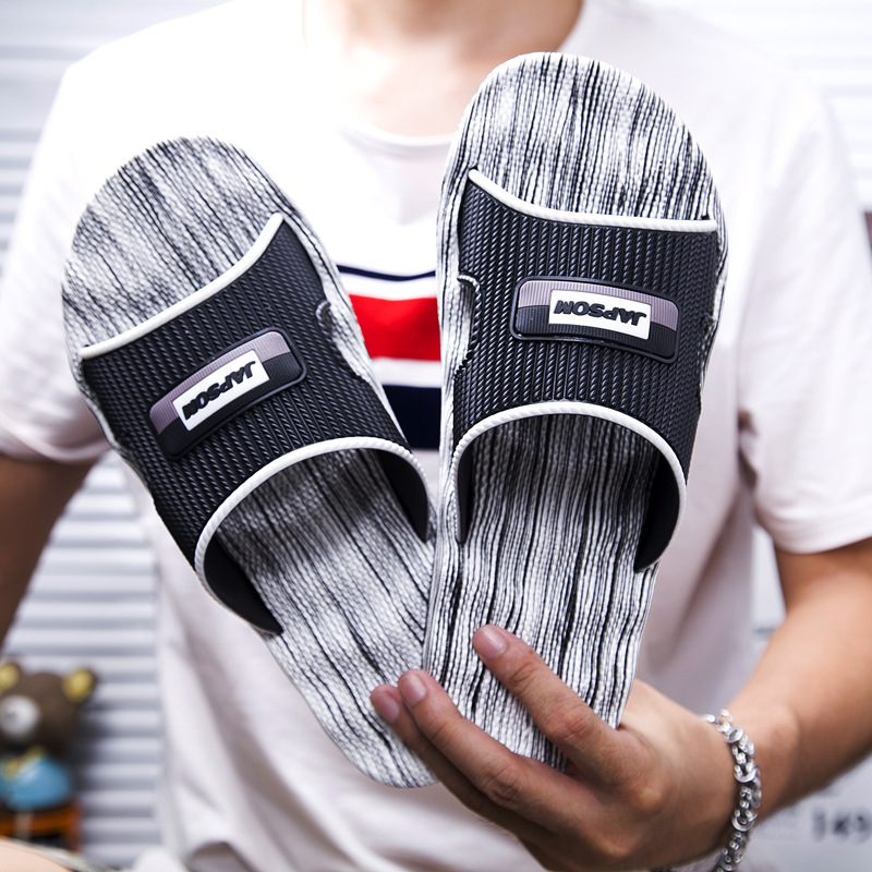 Men Slippers Indoor Nice Non-Slip Home Bathroom Slippers For Man Massage Badslippers Summer Beach Slides Size 39-47