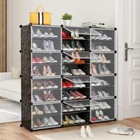 12 Grids Home Storage Cabinets Closet Plastic Shoes Organizer Clothes Underwear Storage Cabinets Wardrobe Living Room Funiture H