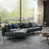 leather sofa modern minimalist living room furniture SOFA Nordic corner leather sofa living room couch