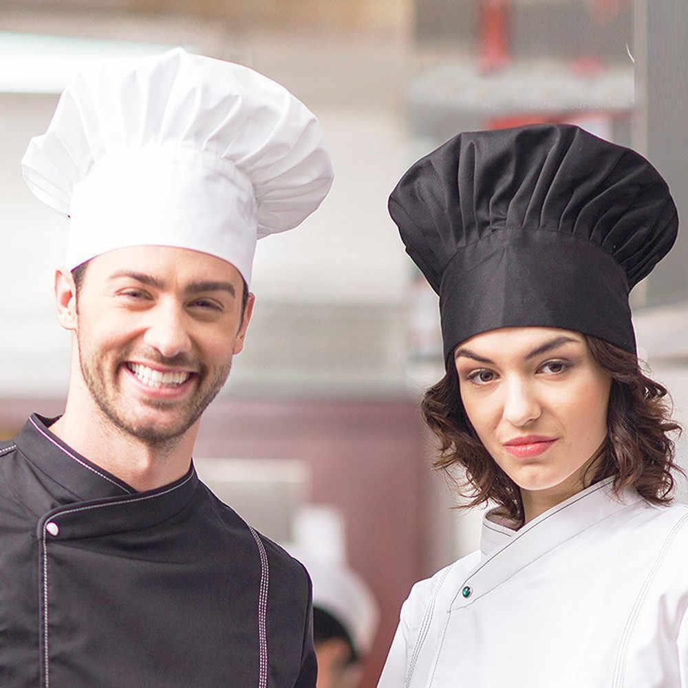 シェフ帽子ファンシードレスパーティーベイカー料理ハットバーベキューキッチン黒ホワイトシェフハット男性女性クックキャップケータリング調理キャップ