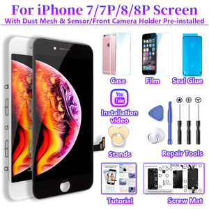 Image 5 - White&Black Lifetime Assurance Quality AAAAA Brand New For iPhone 7 7G i7 4.7 LCD Display Touch Screen Digitizer Assembly+Gift