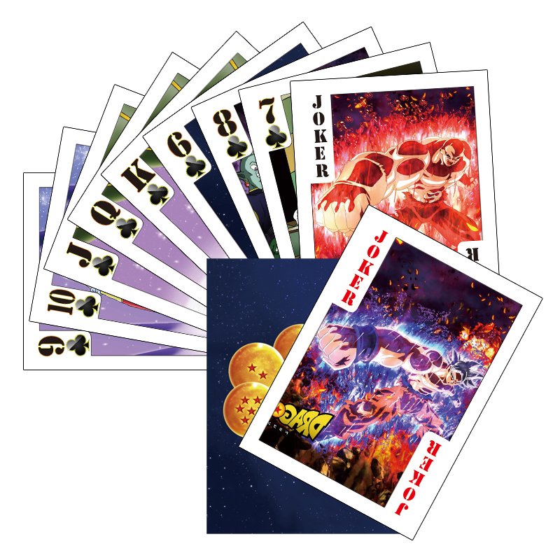 54pcs/set Dragon Ball Super Saiyan Goku Jiren Poker Game Action Toy Figures Commemorative Edition Collection Cards Free Shipping