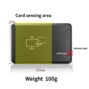 Image 2 - USB 125Khz RFID Reader Writer Copy EM4305 T5567 Card Reader Copier Programmer Burner For Access Control Home Safety