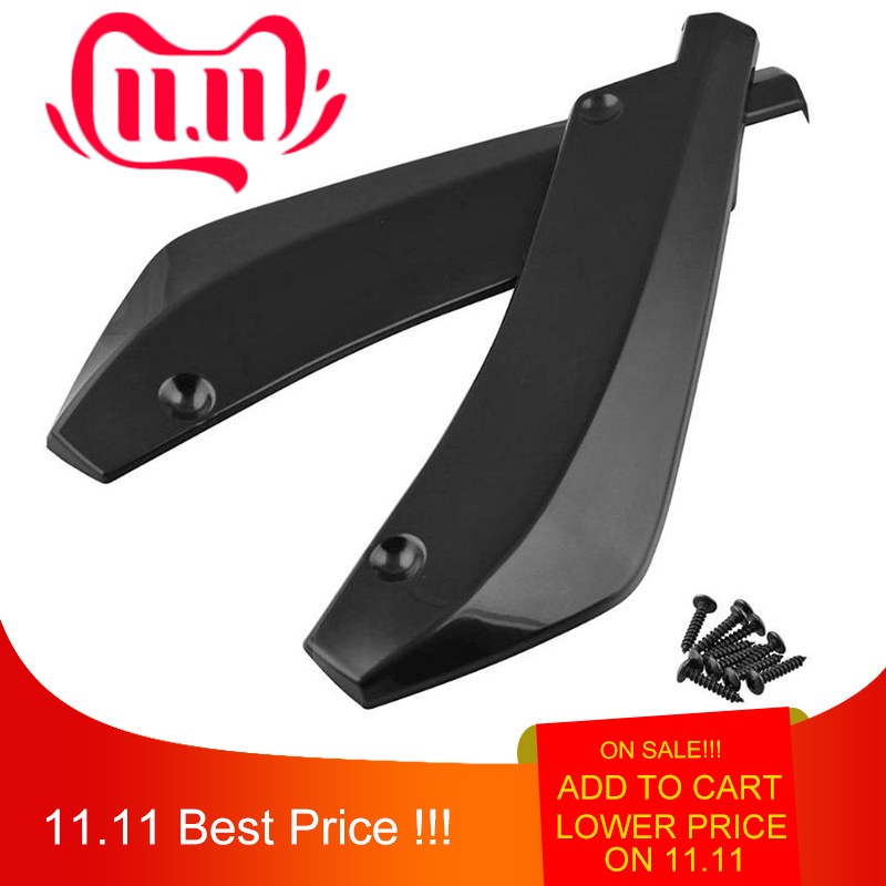 VODOOL 2pcs Universal Car Rear Bumper Lip Spoiler Canards Wrap Angle Scratch Protector Diffusers ABS Car Exterior Parts-in Bumpers from Automobiles & Motorcycles