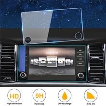 Car GPS Navigation Tempered Glass Screen Film for Sko Da Kodiaq Karoq 2017 2018 Accessories Interior