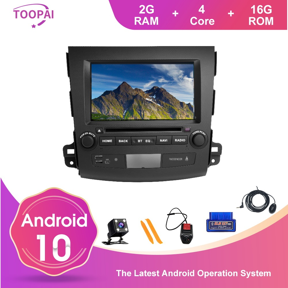 TOOPAI Android 10 FM Radio For <font><b>Mitsubishi</b></font> <font><b>Outlander</b></font> 2007-2011 Car Multimedia Player GPS Navigation Head Unit Stereo SWC image