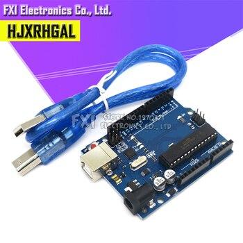 1 ensemble UNO R3 ATMEGA16U2 + MEGA328P puce pour Arduino UNO R3 carte de développement + câble USB