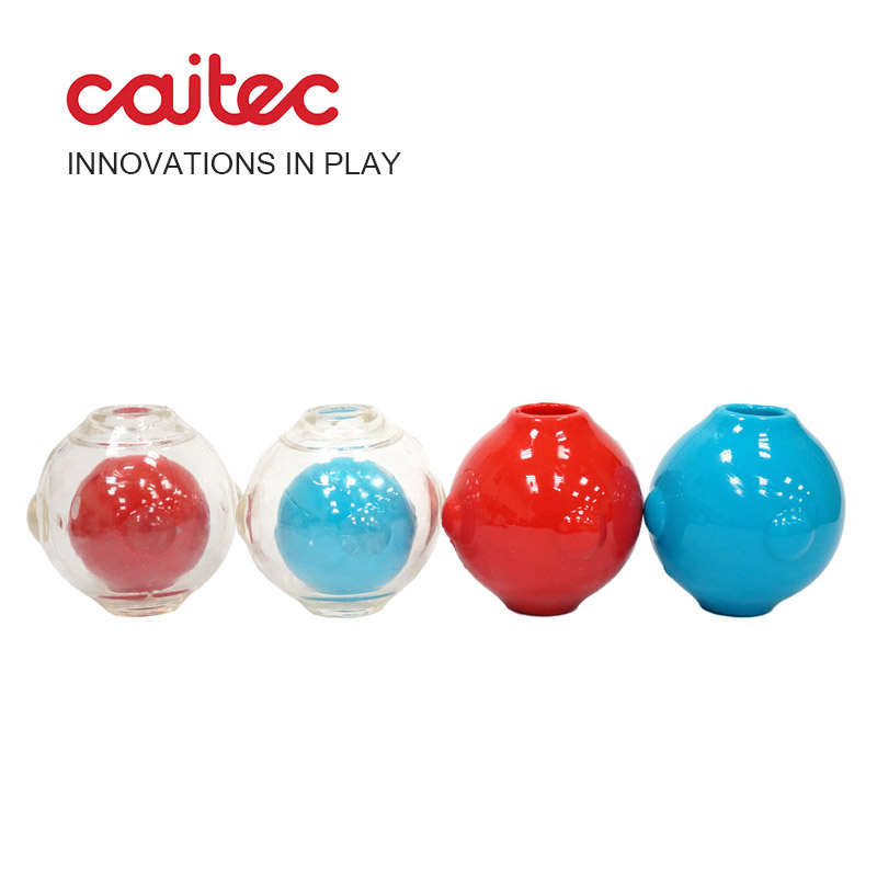 CAITEC Dog Toy Amazing Squeaker Ball Durable Floatable Springy Bite Resistant Best for Tossing Chasing Foraging Medium Large Dog