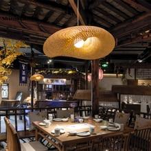 цена Chinese Bamboo Lamp Pendant Lights Restaurant Hotel Rattan Pendant Lamp Living Room Decoration Hanging Lamp Luminaire Suspension онлайн в 2017 году