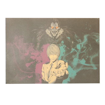 Famous Suspense Comics Death Note Kraft Paper Poster Decoration Painting Wall Stickers naklejki image