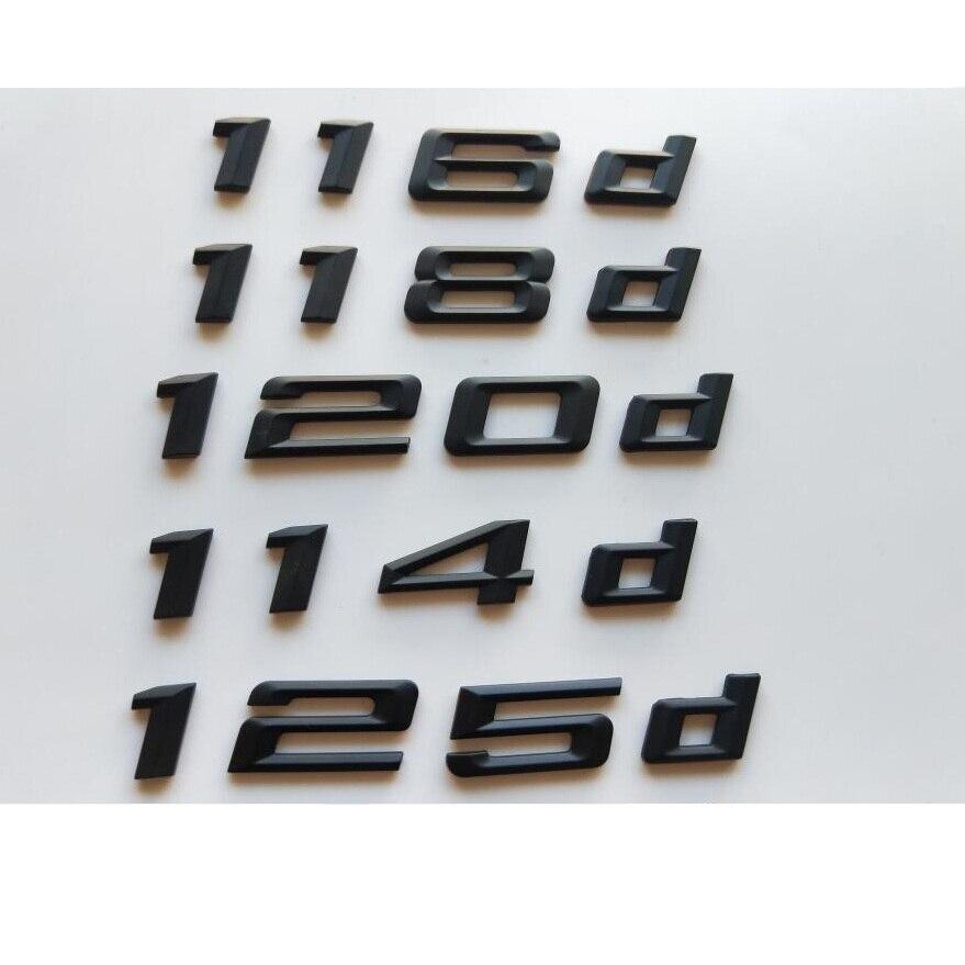 preto 112d 114d 116d 118d 120d 130d 125d numero letras emblemas emblema emblemas traseiros para bmw