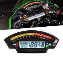 2020 LCD dijital kilometre 14000RPM 6 dişli 199 km/h motosiklet kilometre sayacı For1,2,4 silindir metre evrensel